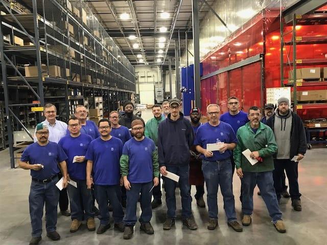 GSM's first shift welding team after receiving their AWS certifications